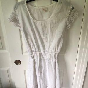 White knee length dress